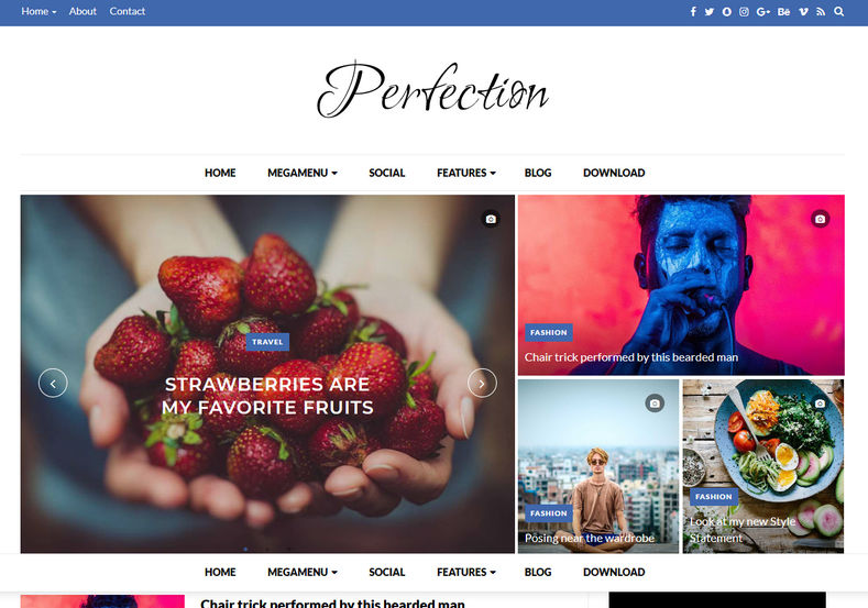 Perfection Blogger Template - Rclipse Home   Entertainment ...