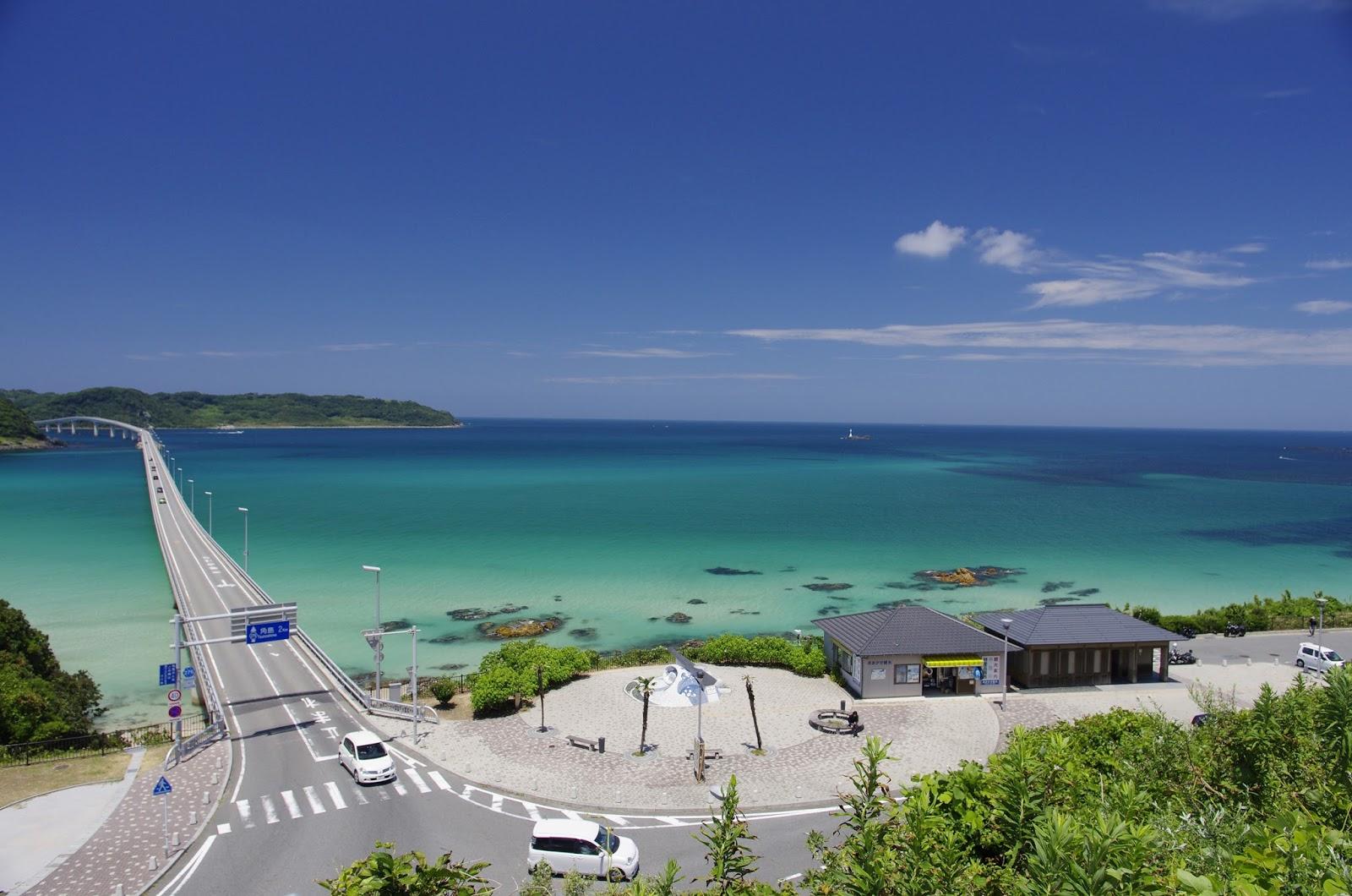 山口県一の観光地「角島」が有名...