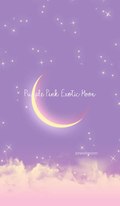 Purple Pink Exotic Moon