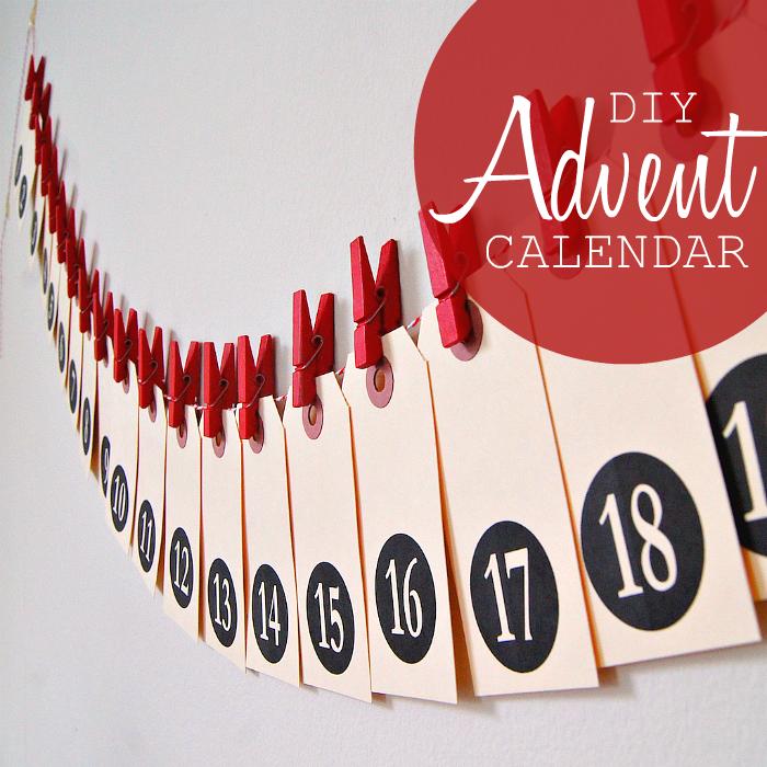 Diy Love Calendar : Diy shipping tag advent calendar poppytalk