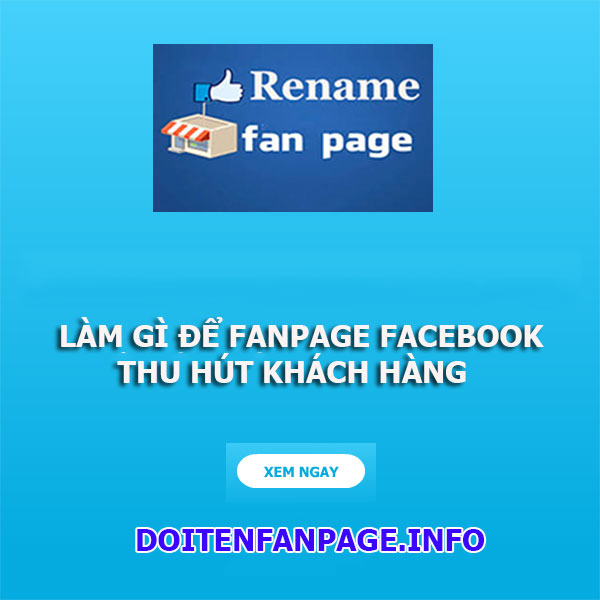 doi ten fanpage facebook