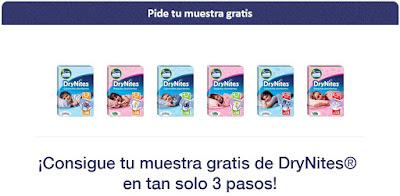 Pide tu muestra DryNites gratis