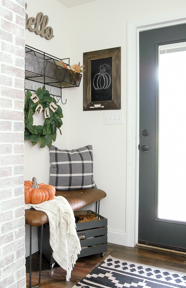 Neutral fall mudroom