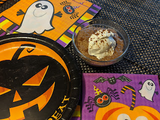 Keto kids Halloween pudding treat chocolate