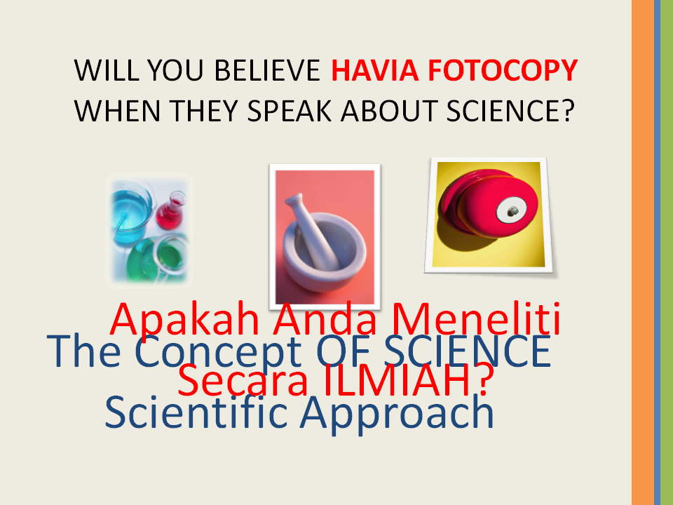 Konsep Penemuan ILMIAH BAKU - The Concept OF Scientific Approach