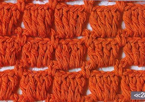 Patrón #1105: Punto Tupido a Crochet