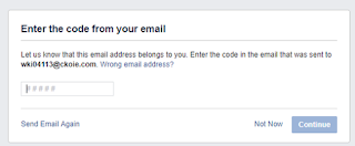 otp of email on facebook for  fake id