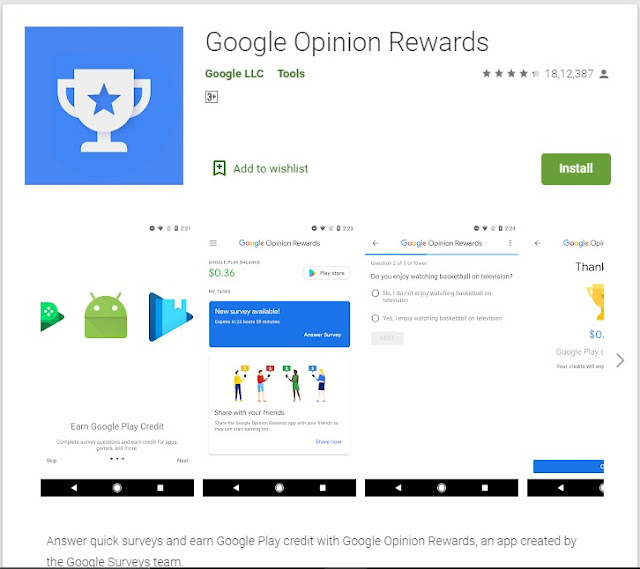 Google Opinion Rewards App To Make Money