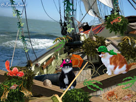 **2015 REVISITED** Tuesday Tails ~ The Extraordinary Voyages of Cap'n Basil Blackheart & His Motley Crew ~ Part V ©BionicBasil®
