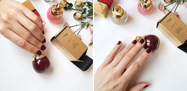 Свотч лака Diorific тон Mystere из коллекции Dior State of Gold swatch