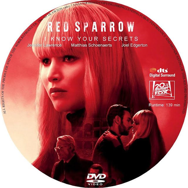 Red Sparrow DVD Label