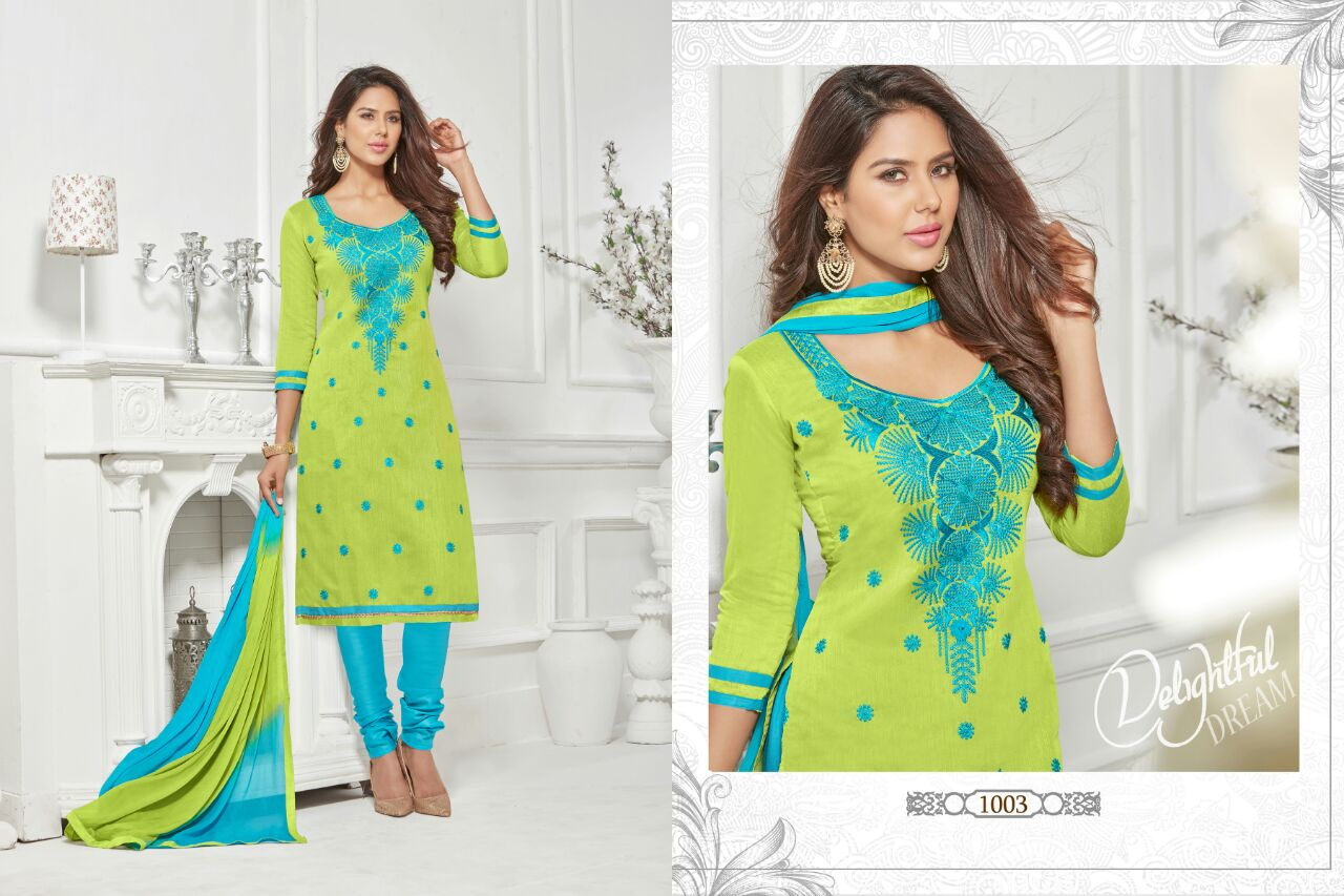 Adaa Vol 1  Latest New Churidar Embroidery Designer Dress