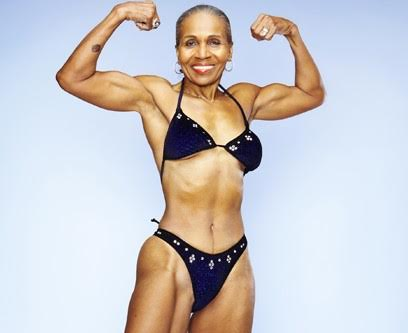 Mrs shepherd the oldest female body builder is 80 years old