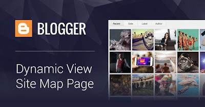 Créer une page de plan de site Blogspot / Blogger à l'aide de la vue dynamique
