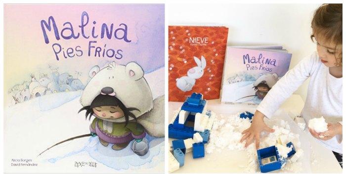 cuentos infantiles imprescindibles juego nieve artificial casera malina pies frios