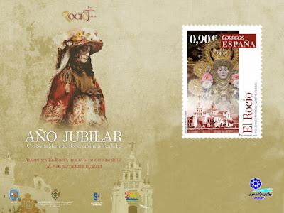 Sello postal de la Virgen del Rocío emitido en 2013