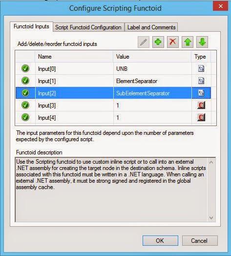 script  Functoid configuration