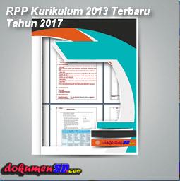 Contoh RPP Kurikulum 2013 Revisi Terbaru Tahun Pelajaran 2017/2018