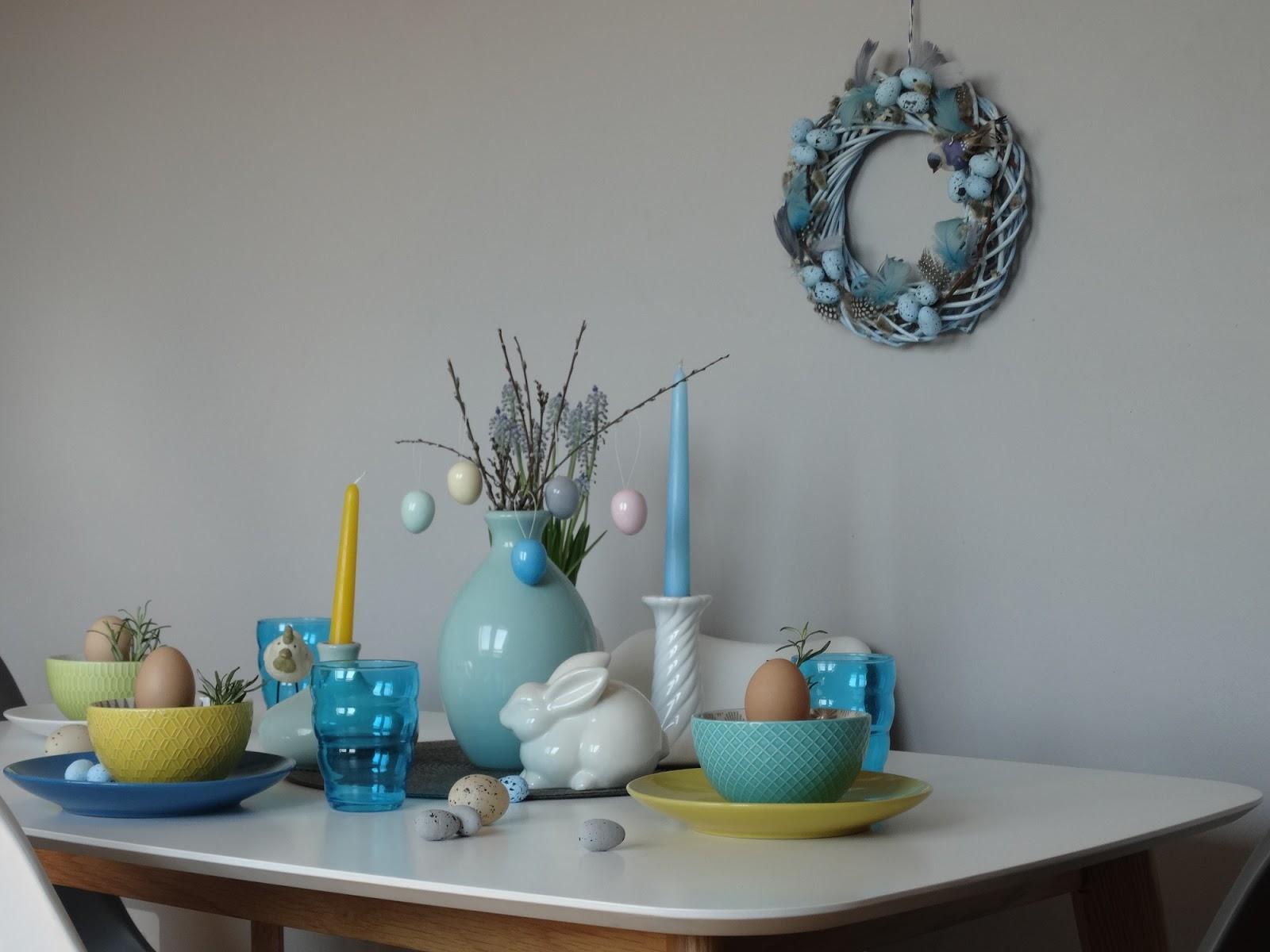 wielkanoc,wielkanocne dekoracje, wielkanocna aranżacja,aranżacja stołu