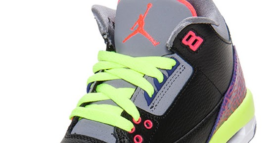 the best attitude f14bd c8faa ajordanxi Your  1 Source For Sneaker Release Dates  Girl s Air Jordan 3  Retro Black Atomic Red-Cement Grey-Volt Now Available