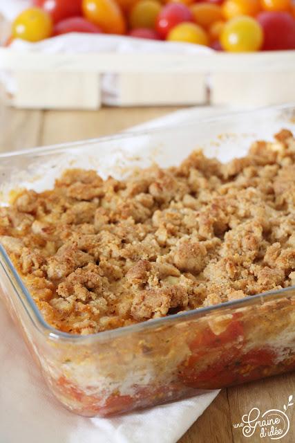Crumble Tomates Chèvre Recette