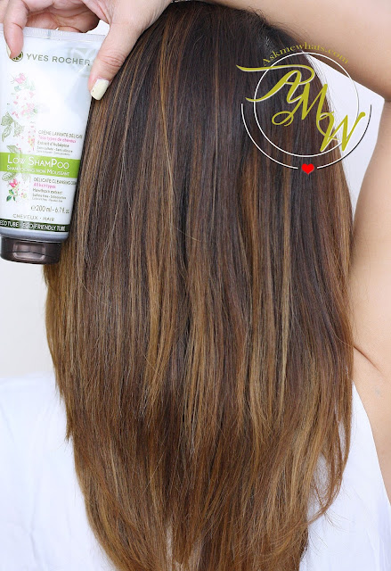 a photo of askmewhats nikki tiu hair Yves Rocher Low Shampoo and Hair Repair Oil review.