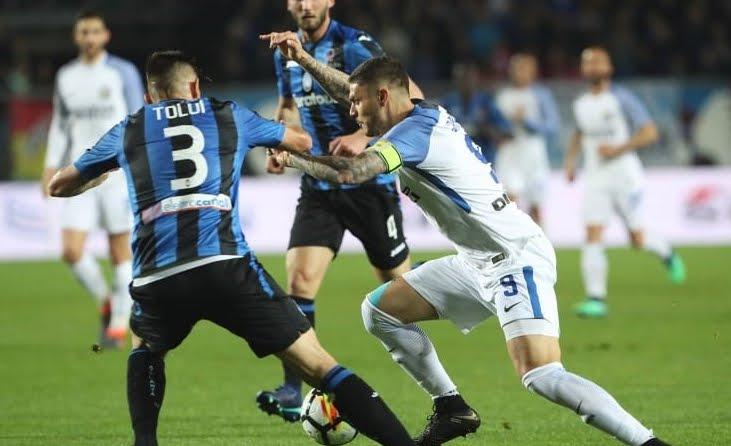 Inter abbattuta nel derby contro l'Atalanta che fa poker.