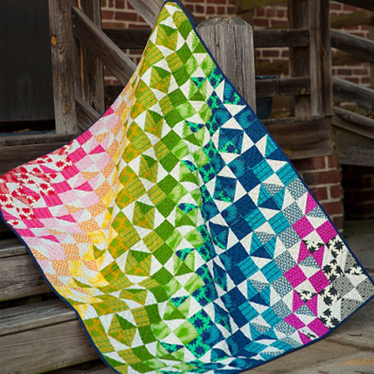 Color Wash Quilt Free Pattern