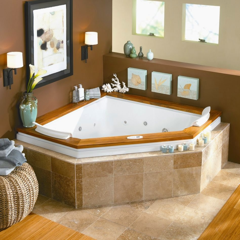 Home Priority: Fascinating Designs of Corner Whirlpool Tub