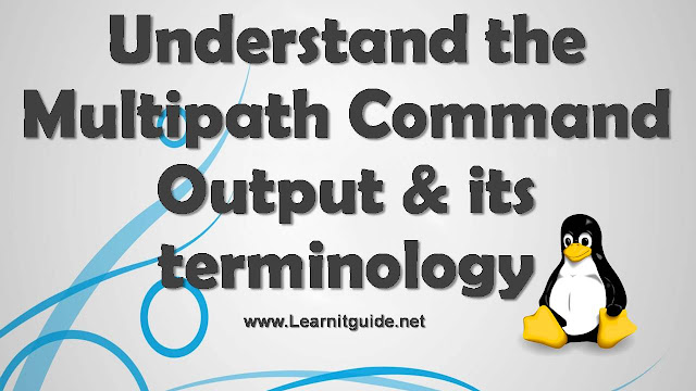 Understand the Multipath Command Output and multipathing terminologies