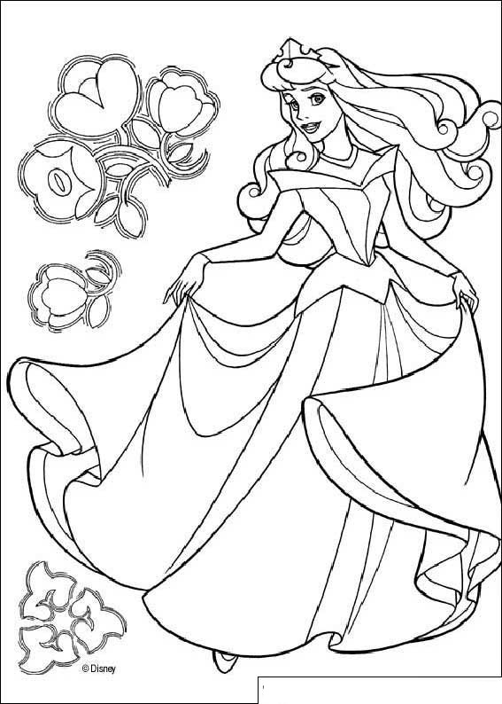 Beauty Princess Aurora Coloring Pages >> Disney Coloring Pages