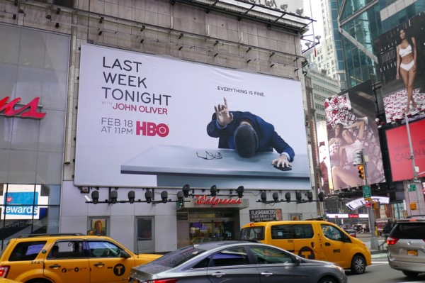 Last Week Tonight John Oliver HBO 5 billboard NYC