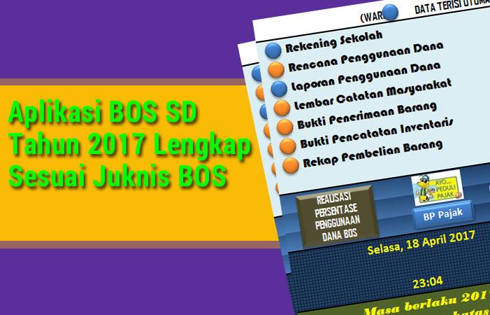 Aplikasi BOS SD 2017