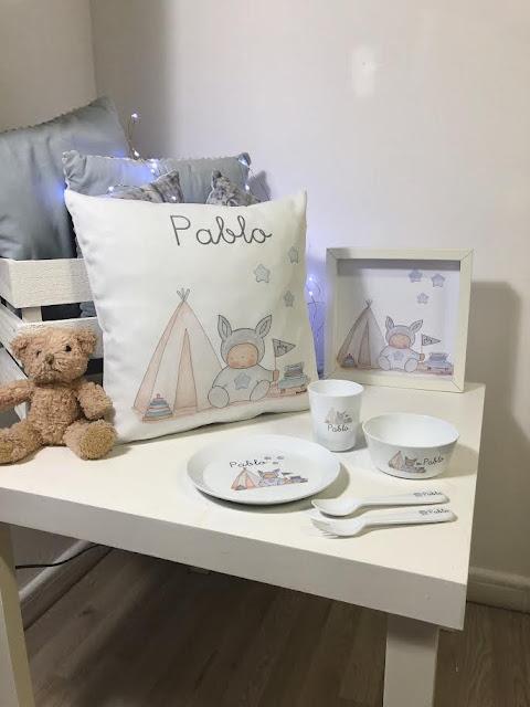 Cojines infantiles  personalizados para tu bebé y lavables