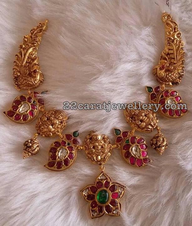 Lakshmi Peacock Mango Necklace