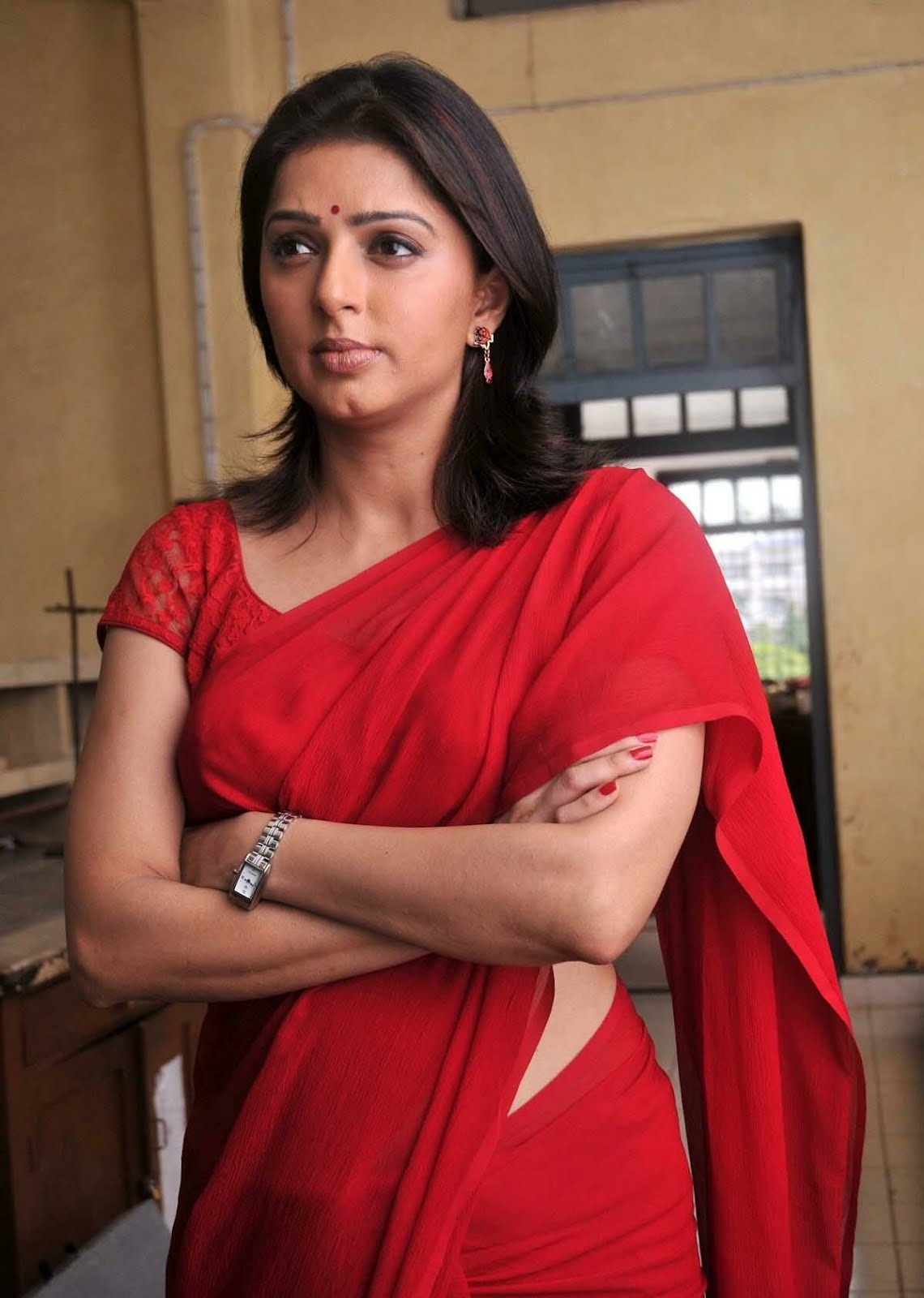 Bhumika Chawla Latest Photos Gallery In Red Saree