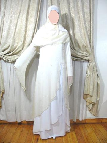 Model Gamis Akhwat Putih Cantik