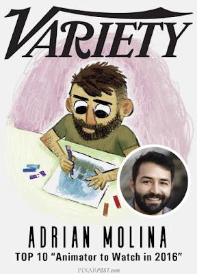 Adrian Molina Top 10 Animators of 2016
