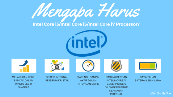 Mengapa Harus Intel Core i3/Intel Core i5/Intel Core i7 Processor?