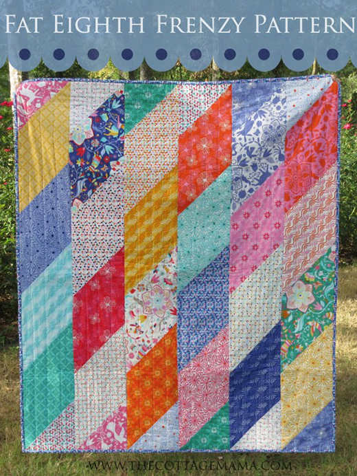 Fat Eighth Frenzy Quilt made By Lindsay Wilkes of The Cottage Mama, The Pattern designed by Fat Quarter Shop
