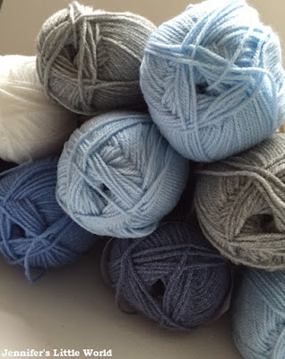 Balls of yarn for a Sky Blanket