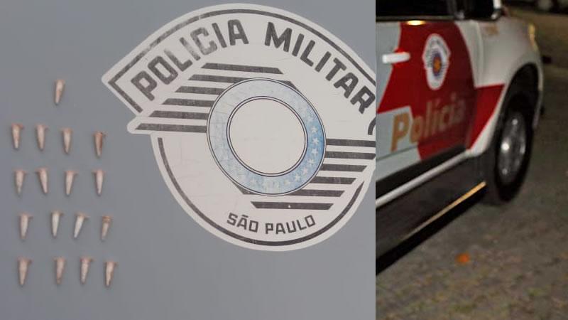 Suspeito de tráfico de drogas é preso no bairro Carvalho Pinto em Espírito Santo do Pinhal