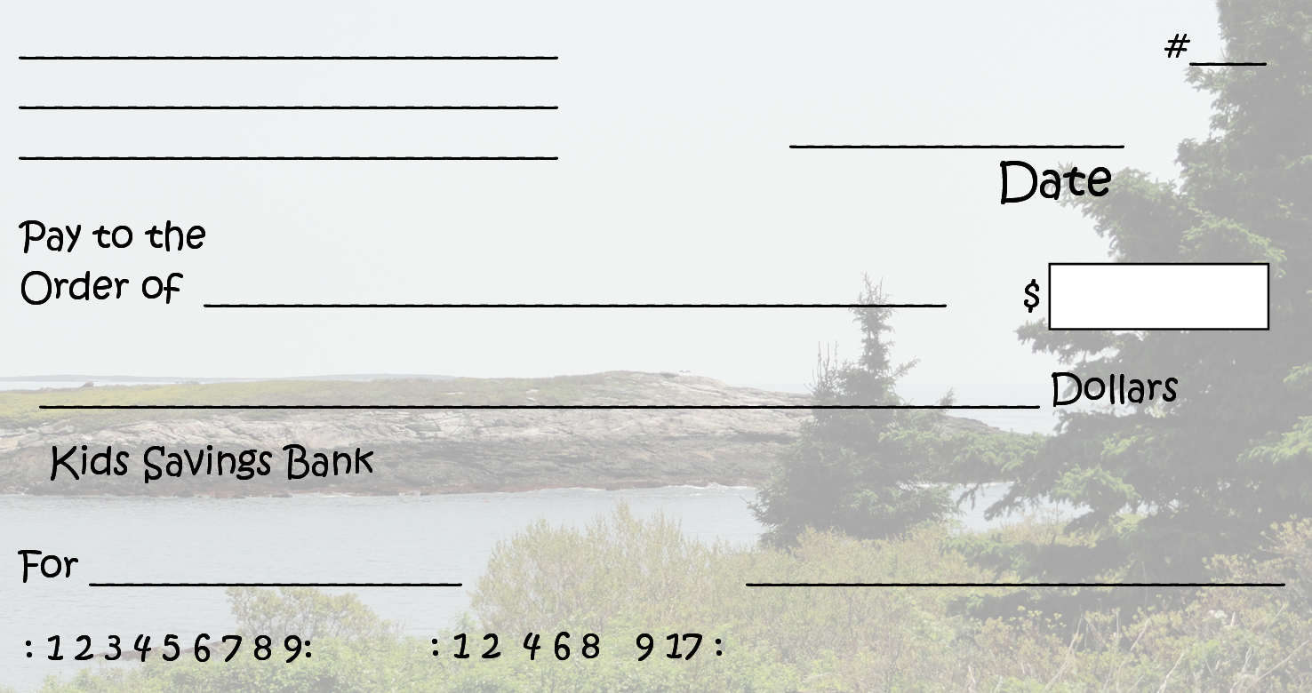 Free Clipart N Images: Printable Pretend Checks For Kids