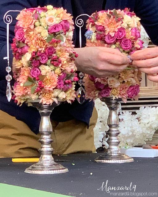 Kristályfüggős asztaldíszek készülnek I Manzard9