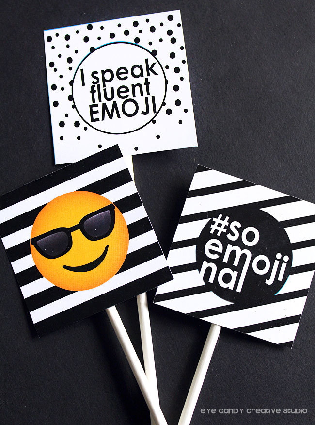 emoji birthday, emoji sleepover, black & white party, shades emoji