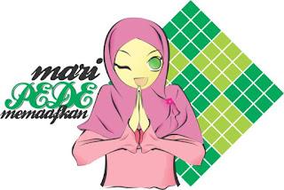 kartun wanita muslimah, kartun islami