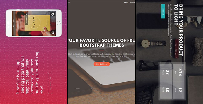 latest best free bootstrap 4 website templates