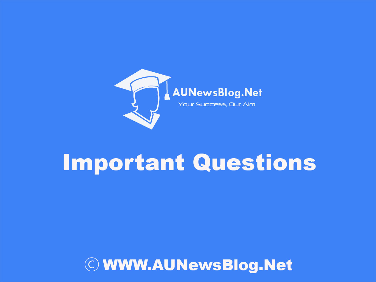 New** Anna University April May 2019 Important Questions