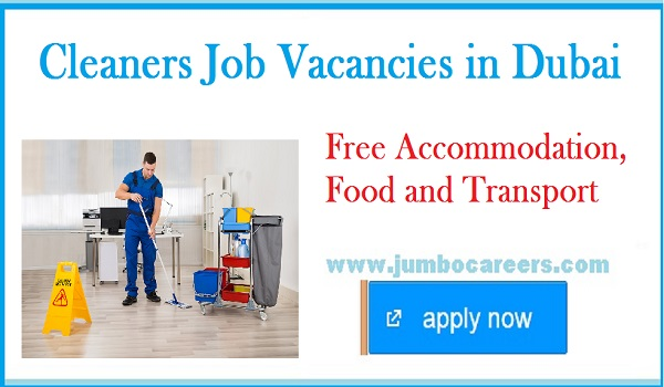 Recent cleaning staff jobs in Dubai, Available UAE job vacancies for cleaning staff