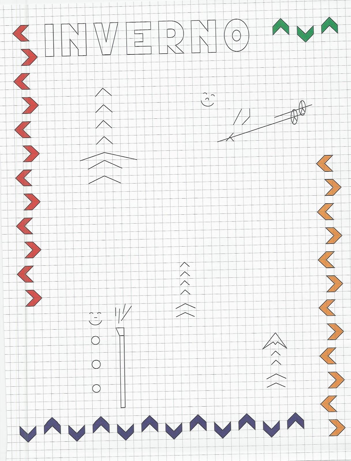 disegni da colorare: CORNICETTE : LE STAGIONI (Copia il